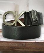 Black Leather Men's Belt