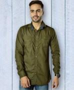 Capefox Olive Green Cotton Shirt