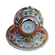 Chitrahandicraft Marble Table Watch/clock