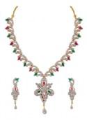 Heena Jewellery HJNL88MC Festive Collection Multicolour Necklace Set