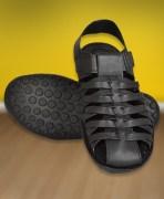 Black Leather Slip-Ons For Men