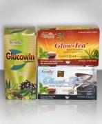 Combo Of Organic Glow Tea, Obecut Weight Loss Tea & Glucowin