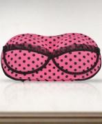 Pink Polka Bra Bag Organizer