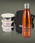 Sunrise Lunch Box & Flask Combo