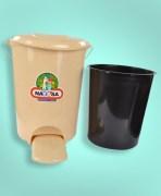 Plastic Dust Bin With Paddle & Inner Bucket