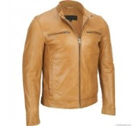 Hexa Triangle Leather Jacket For Men