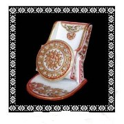 Designer Gold Embossed Marble Mobile Stand