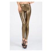 Nitein-NI79391-Gold-Metallic Scales Leggings