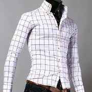 S Mark Excell Check Shirt Men