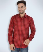Barryline London Red & Black Checked Casual Shirt