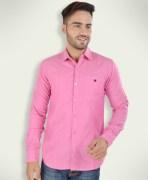 Barryline London Hot Pink Plain Causal Shirt