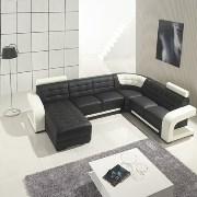 Sofa FactoryRed&Black Corner Sofa SF 101