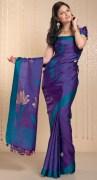 Kalyan Kendra Plain Silk Saree