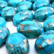Turquoise Cabochons 7x9 m.m. Calibrated Gemstone