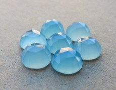 Chalcedony 10mm Round Loose Rose Cut Calibrated Gemstone