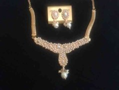 Gold Plated Pearl Necklace Set