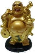 Pari Creations Laughing Buddha With Boats And Coins