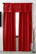 Windows Red Curtain