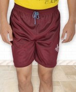 Brown Polyester Shorts