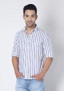 Allen Solly Striped Casual Men's Shirt