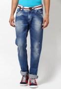 Spykar Slim Fit Faded Jeans