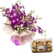 12 Orchids N Ferrero Chocolates - 187