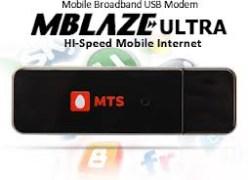 MTS Blaze Ultra Data Card