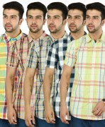 Multicolored Cotton Shirts For Men Combo Of 5