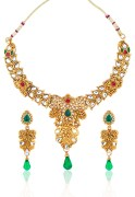 Asian Pearls Necklace Set With Kundan Work