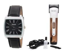 Zion Zdc-143 Men's Watch & Trimmer Combo