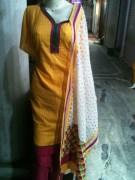 Gupta Cotton Suit With Pure Chiffon Dupatta