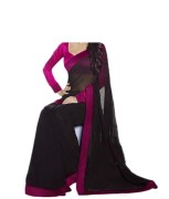 Embroidered Saree With Blouse Piece