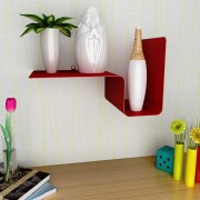 Cubed Samune Small Metal Wall Shelf