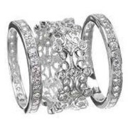 Cubic Zirconia Jewellery Bangles Silver