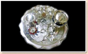 Osian silver plated pooja set