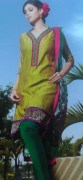Kalakruti Straight Cut Silk Fancy Salwar Kameez