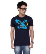 Inkovy-CREW-HALF-EVIL-MONKEY-NAVY-Graphic T-shirt