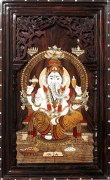 Sri Krishna Moorthy Fine Arts Ganesha Wall Frame