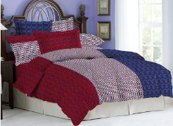 Bombay Dyeing Cynthia Double Bedsheet - BS3DBCYNTHI8293RED