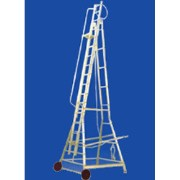 Aluminium Trolley Wheeled Ladder