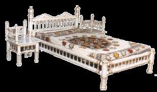 JJ Sanghwan Wood Darbari Bed