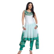 Colourrs Anarkali Applique Suit