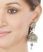 Silver Pearl Jhumkis
