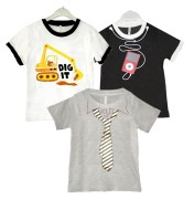 Goodway Junior Boys 3 Pack BWG Style-3  T-Shirts