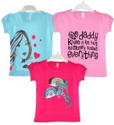 Goodway Junior Girls 3 Pack Style-3 T-Shirts
