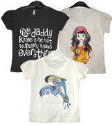 Goodway Junior Girls 3 Pack BWG Style-3 T-Shirts