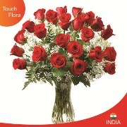 Touch Flora Dazzling In Red Bouquet