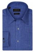 Zodiac Mens Full Sleeves Regular Fit Birds Eye Design Formal Shirt