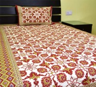 Bombay Dyeing Rosebud Double Bed Sheet (1+1)