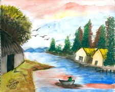 Shyam Art N Frames Nature Painting